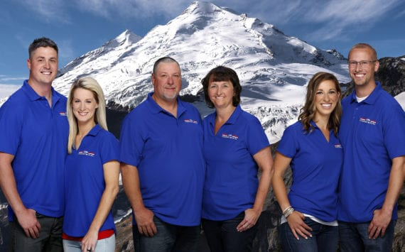 From left Ken and Joell Keck, Cory and Bobbi Kreider, Stephanie and Philip Vander Veen.